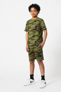 CoolCat Junior regular fit sweatshort Nate met camouflageprint army, Army