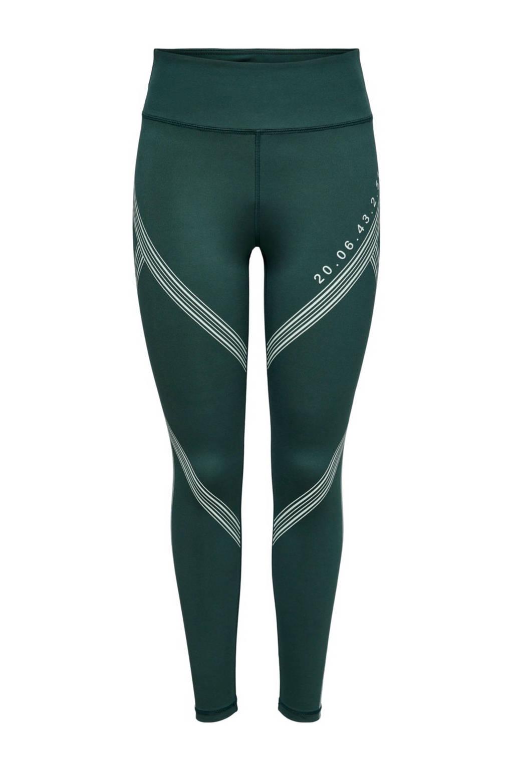 ONLY PLAY sportlegging ONPSHY groen/wit, Groen/wit