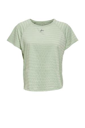 sport T-shirt ONPSAHA mintgroen