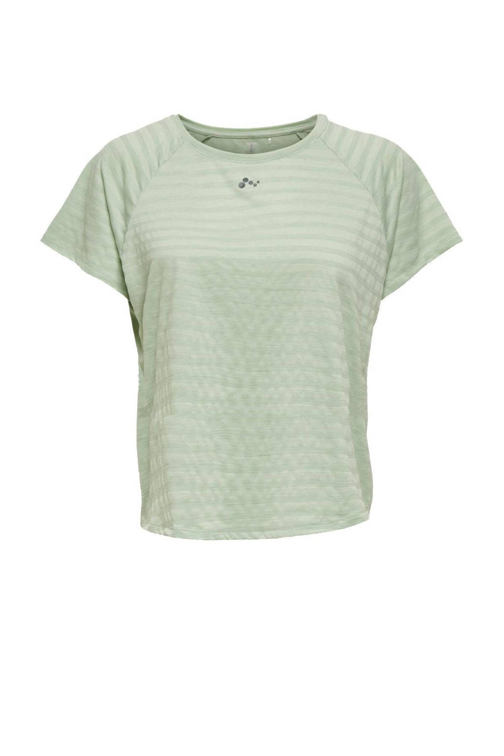 Only Play Curvy Plus Size sport T-shirt ONPSAHA mintgroen, Mintgroen