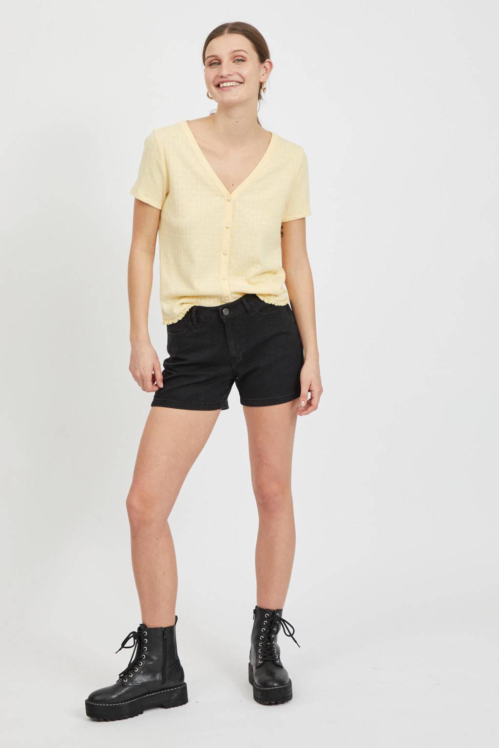 VILA jeans short VIDINIA black denim, Black denim