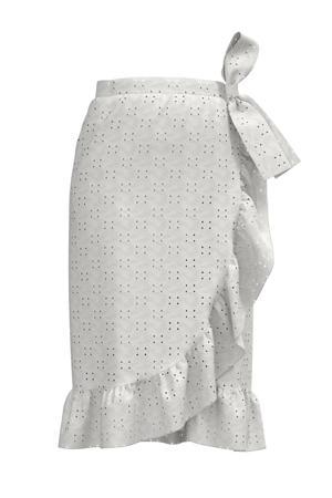 rok VIKAWA van gerecycled polyester wit