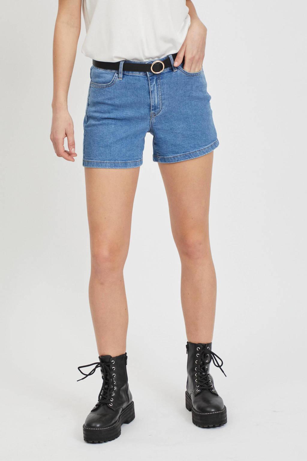 VILA jeans short VIDINIA medium blue denim, Medium blue denim