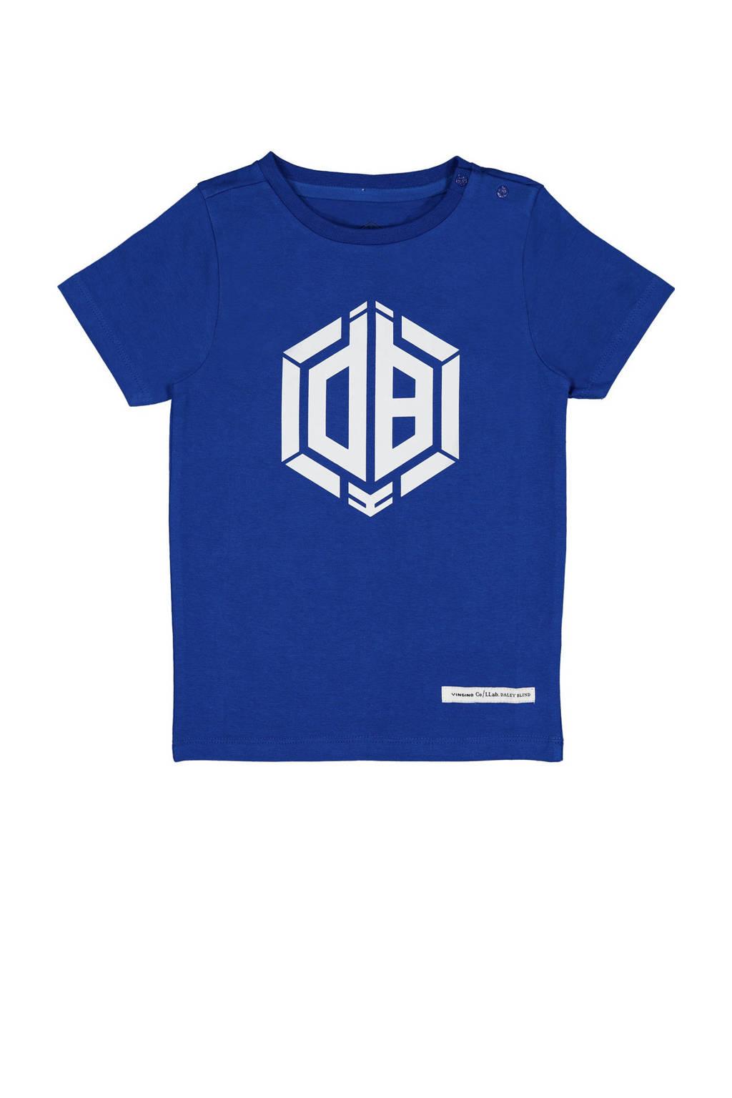 Vingino Daley Blind T-shirt Hermy met logo 1002 lapis blue, 1002 Lapis Blue