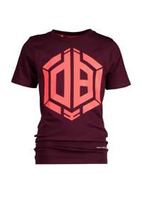 Vingino Daley Blind T-shirt Hallis met logo donkerrood, Donkerrood