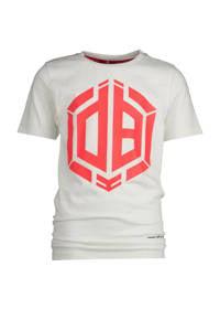 Vingino Daley Blind T-shirt Hallis met logo wit/felrood, Wit/felrood