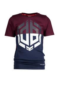 Vingino Daley Blind T-shirt Horres met logo donkerblauw/donkerrood, Donkerblauw/donkerrood