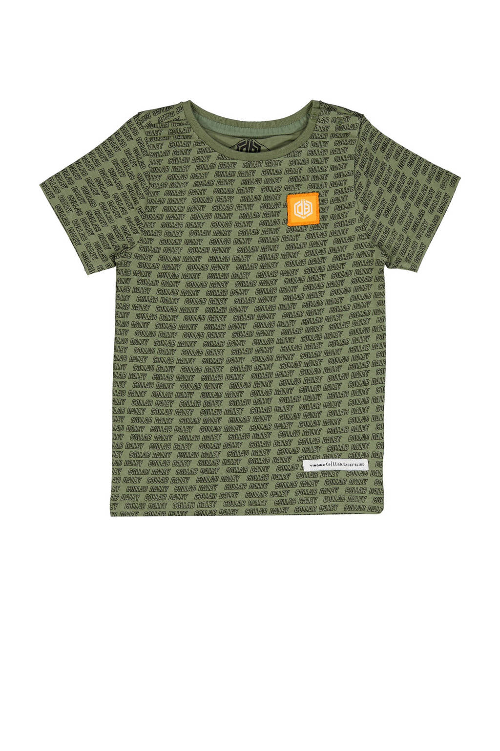 Vingino Daley Blind T-shirt Hafiro met all over print 201 light army green, 201 Light Army Green