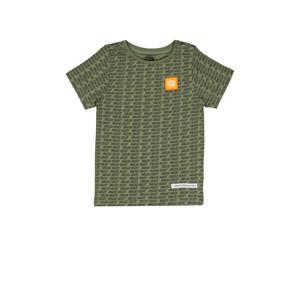 T-shirt Hafiro met all over print 201 light army green