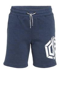 Vingino Daley Blind regular fit sweatshort Rambor met logo donkerblauw, Donkerblauw