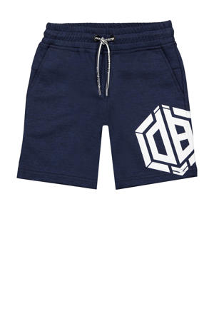 regular fit sweatshort Rambor met logo donkerblauw