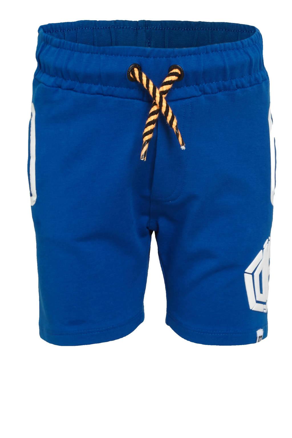Vingino Daley Blind regular fit sweatshort Rafi met logo hardblauw, Hardblauw