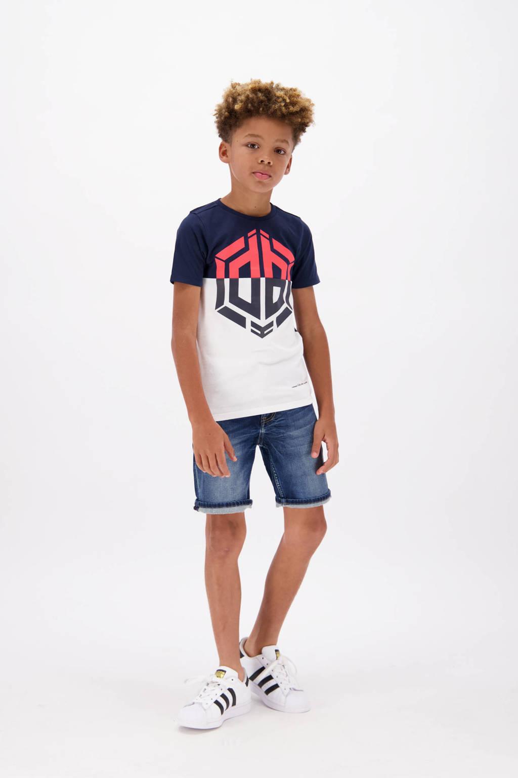 Vingino Daley Blind T-shirt Horres met logo donkrblauw/wit/rood, Donkrblauw/wit/rood