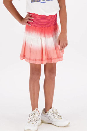 tie-dye rok Quinsy koraalroze/lichtroze