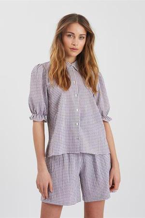 geruite blouse Mimaisa paars