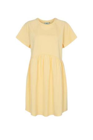 A-lijn jurk Bebo van biologisch katoen lichtgeel