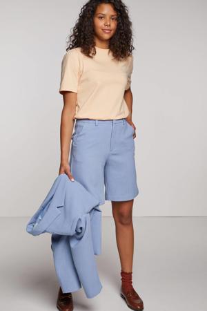 straight fit korte broek Hamimo lichtblauw
