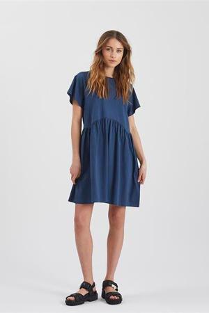 A-lijn jurk Bebo van biologisch katoen donkerblauw