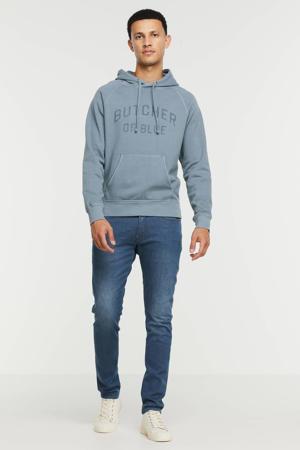 hoodie van biologisch katoen china grey