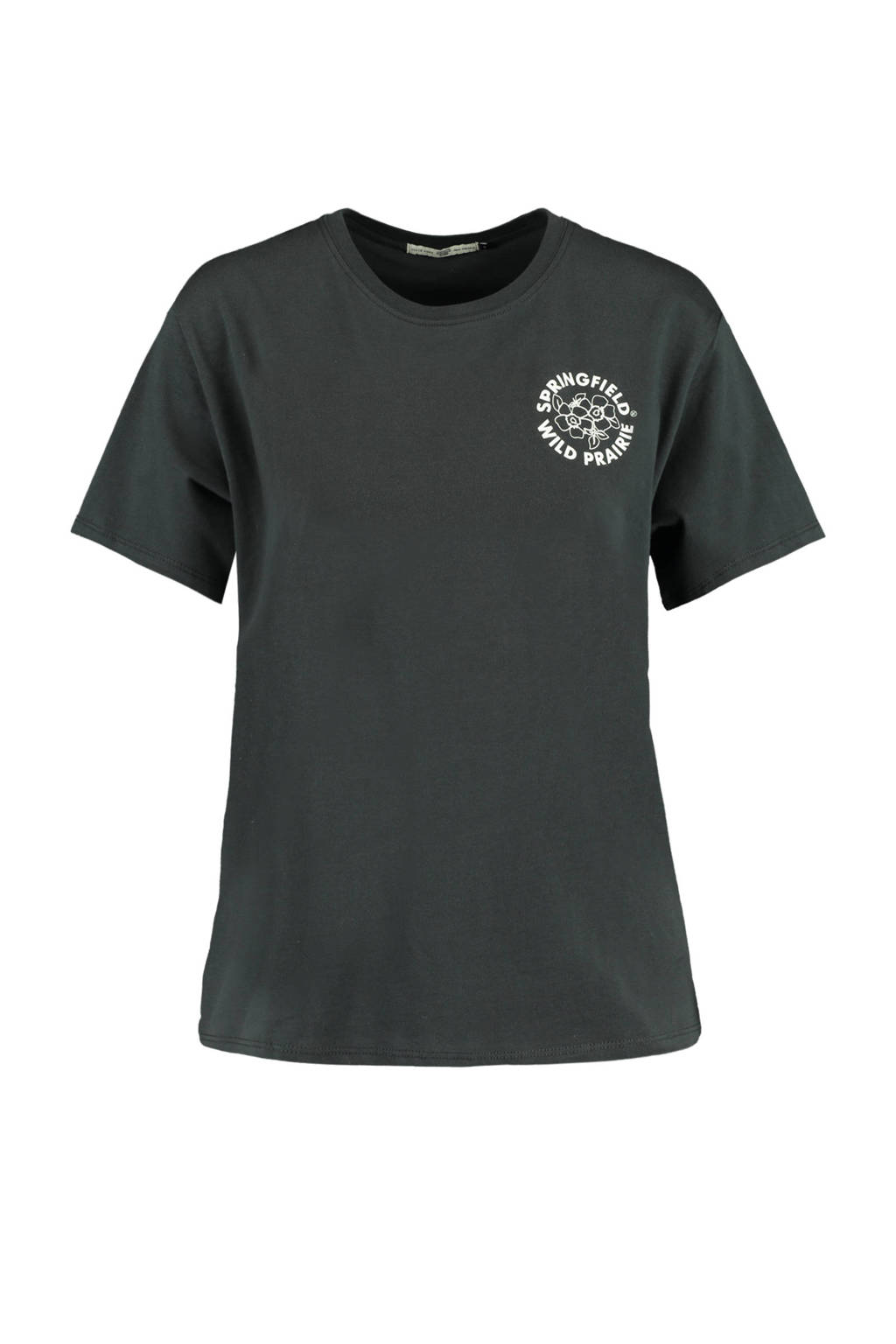America Today T-shirt Eleanor met tekst washed grey, washed black