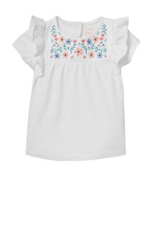baby T-shirt van biologisch katoen ecru