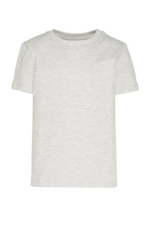 T-shirt - set van 3 blauw/zwart/lichtgrijs melange