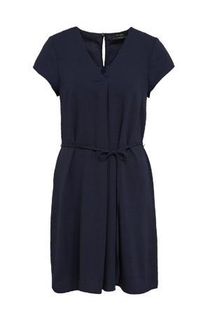 jurk met open detail donkerblauw