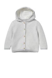 C&A Baby Club baby gestreept vest van biologisch katoen grijs/wit, Grijs/wit