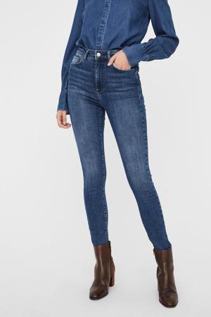 high waist skinny jeans VMSOPHIA met biologisch katoen dark denim