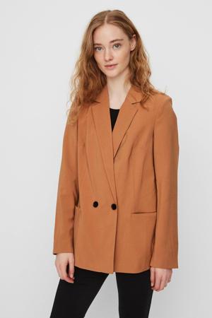 blazer VMEMILY roestbruin/oranje