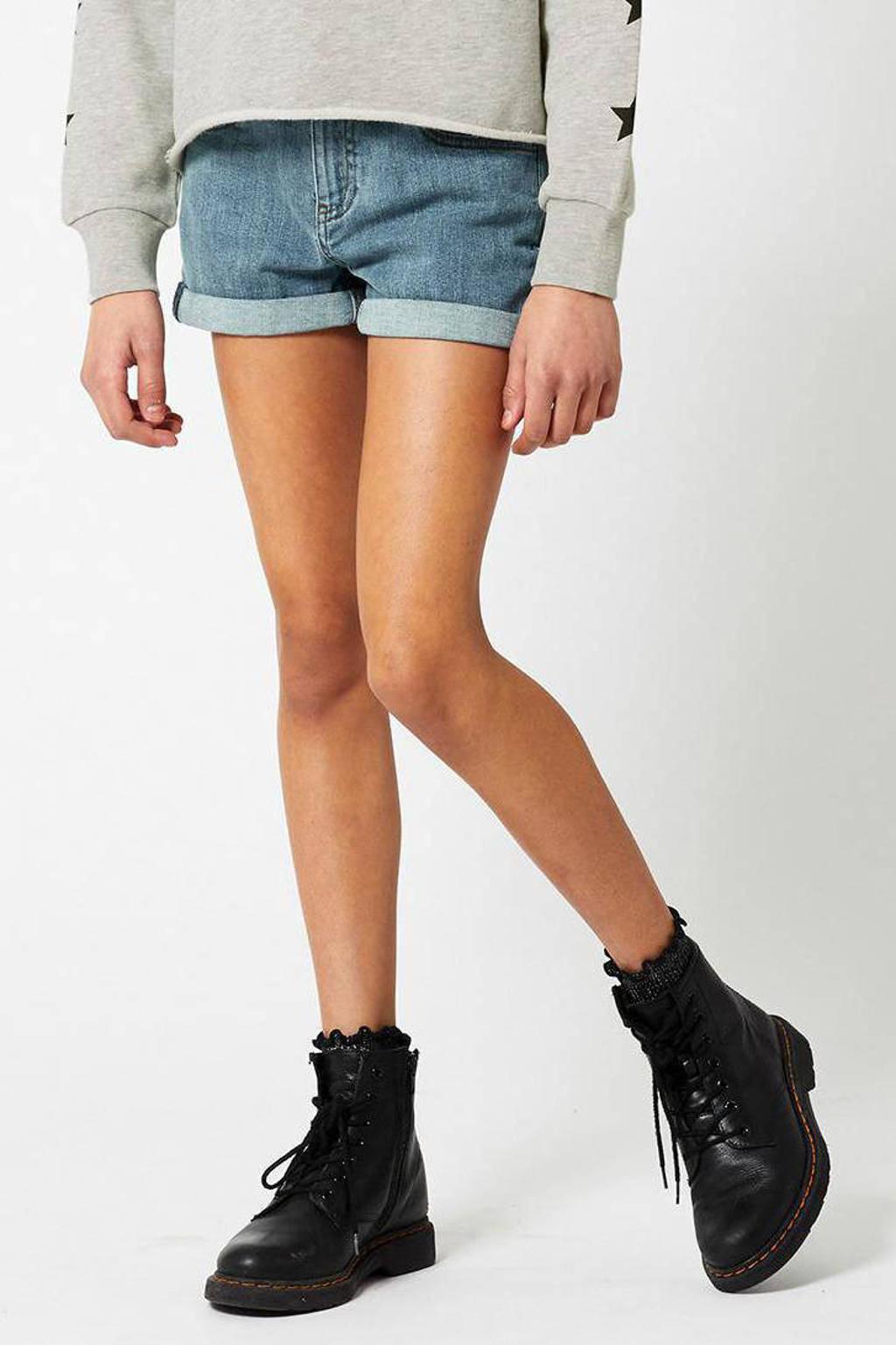 America Today Junior slim fit jeans short Lucy lichtblauw, Lichtblauw