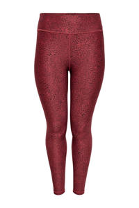 Only Play Curvy Plus Size sportlegging ONPAFIA rood, Rood