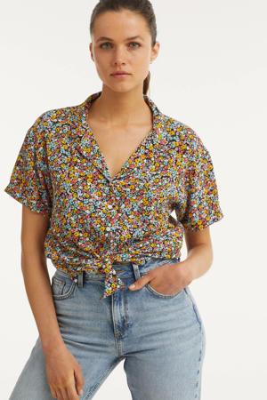blouse met all-over bloemen print