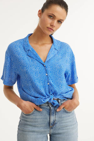 blouse met all-over stippen patroon
