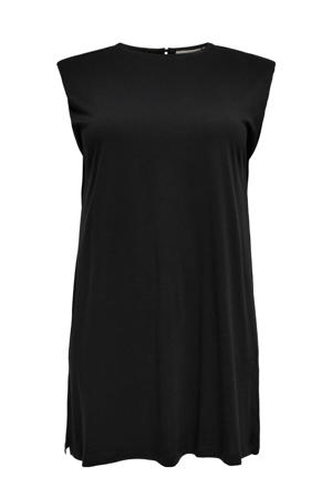 jurk CARAPRIL  van biologisch katoen zwart