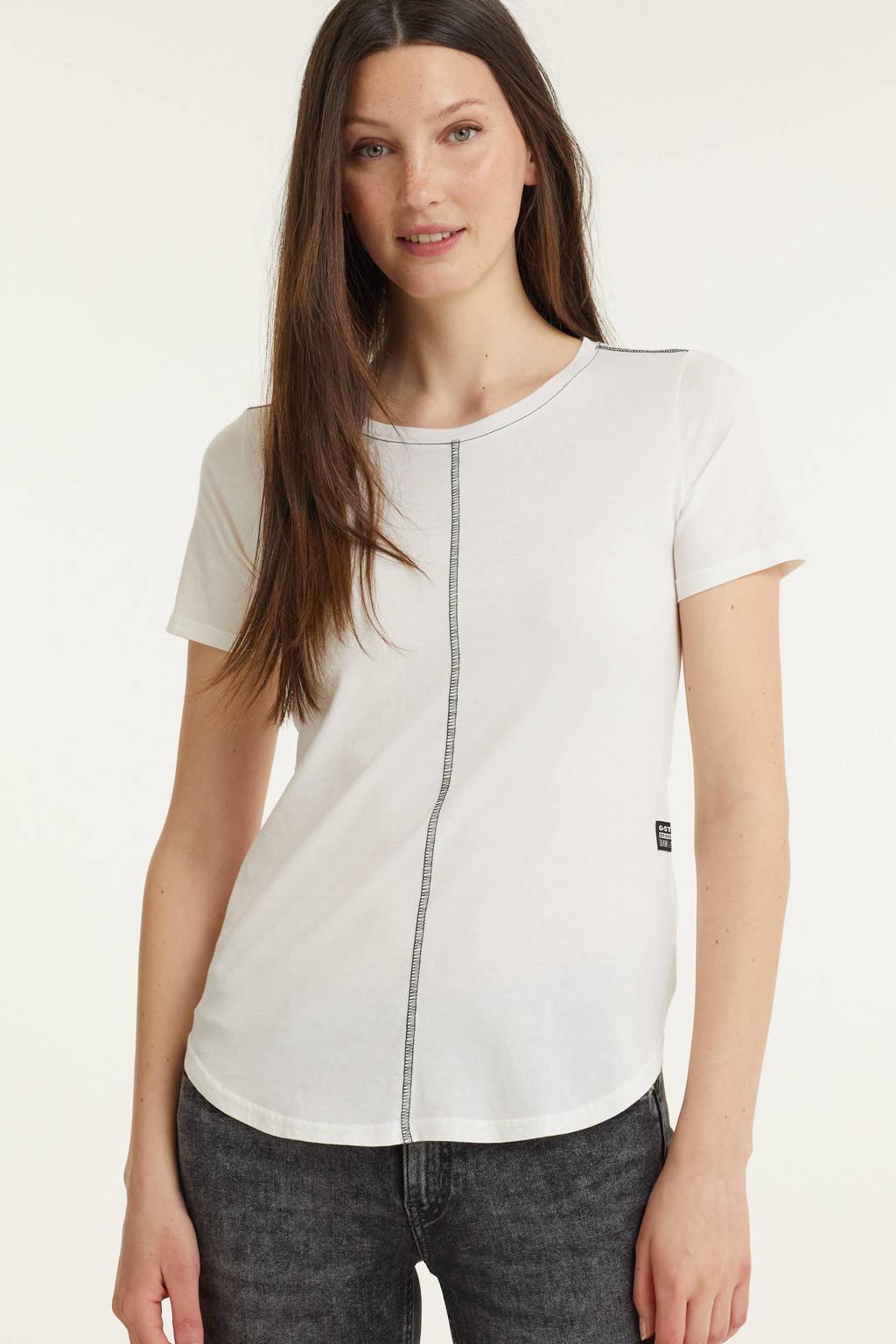 G-Star RAW T-shirt van biologisch katoen off white, Off White