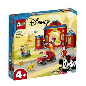 Mickey & Friends brandweerkazerne & auto 10776