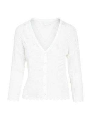 gebreid vest wit