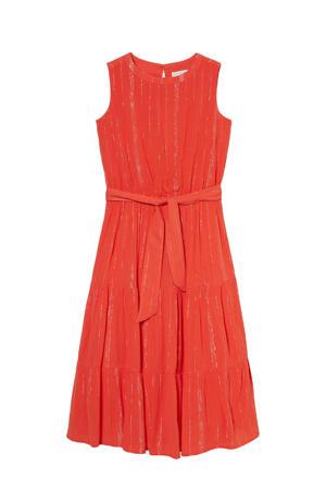 maxi jurk met glitters oranje
