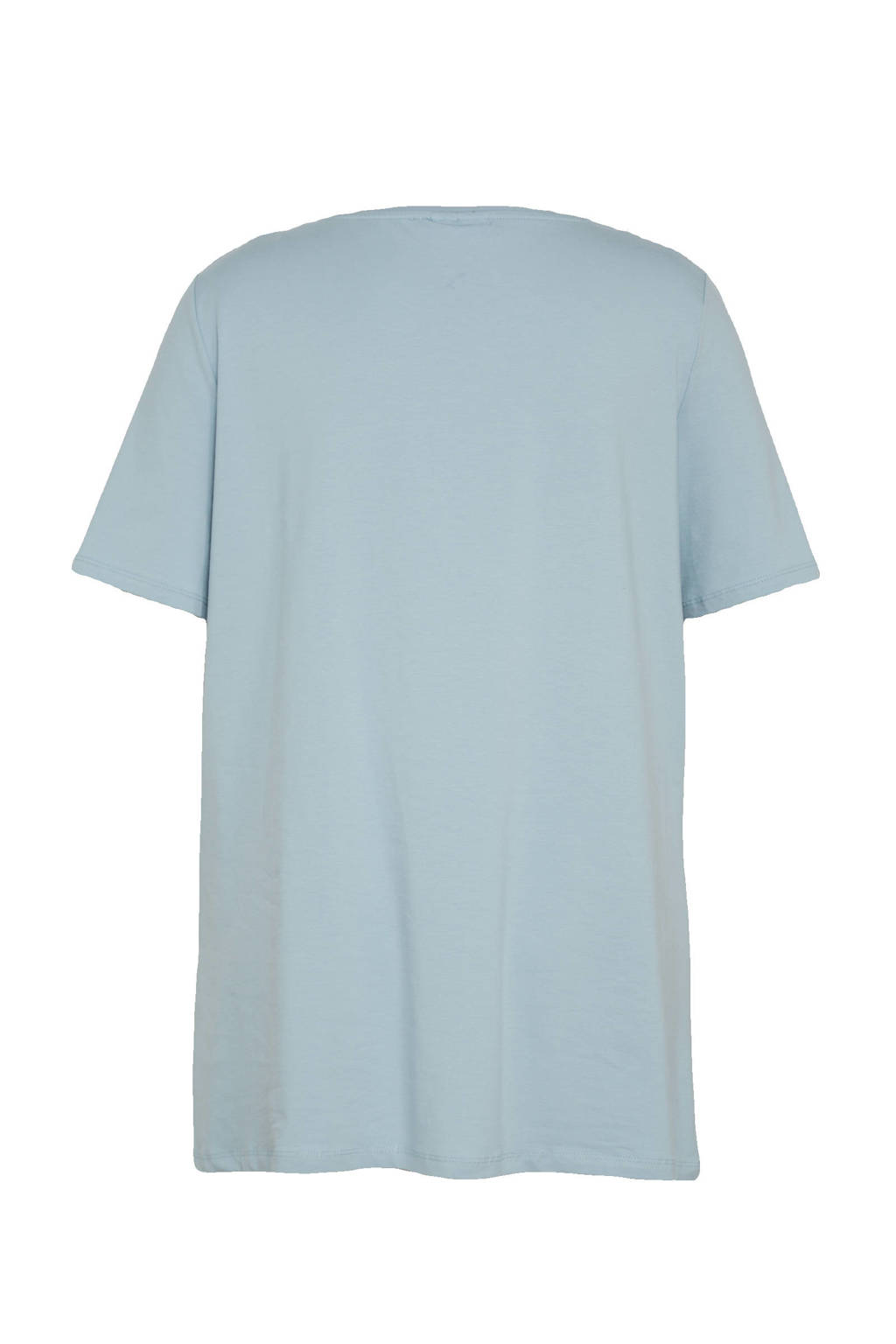 C&A XL Yessica T-shirt met biologisch katoen lichtblauw, Lichtblauw