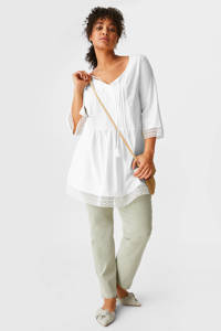 C&A XL Yessica tuniek van biologisch katoen wit, Wit