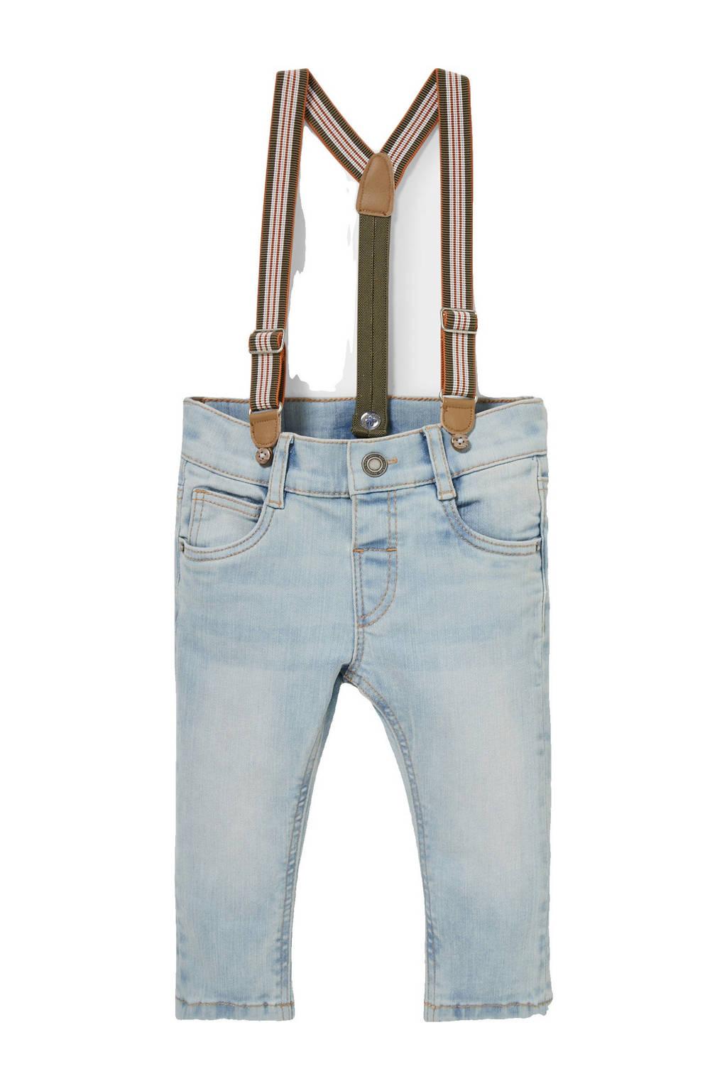 C&A Baby Club jeans met afneembare bretels lichtblauw, Lichtblauw