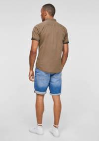 Q/S designed by slim fit overhemd bruin, Bruin