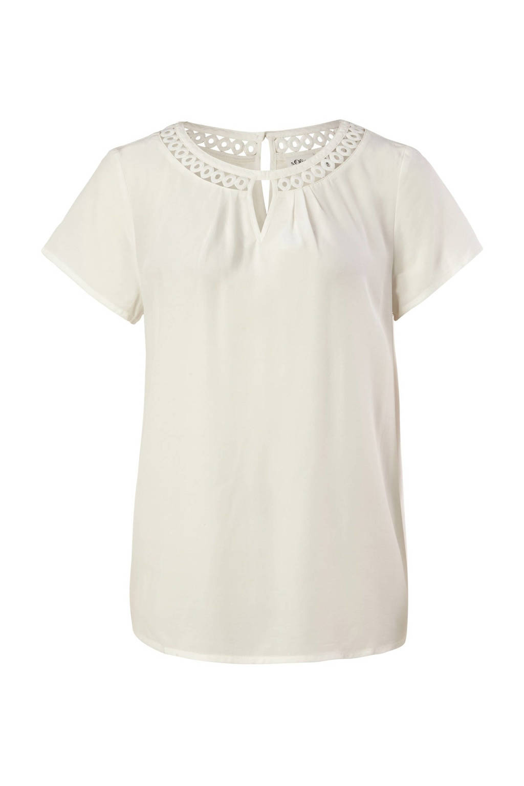 s.Oliver BLACK LABEL top met open detail wit, Wit