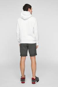 Q/S designed by hoodie met printopdruk wit, Wit