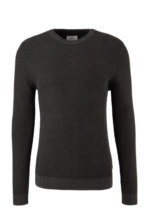 slim fit trui zwart