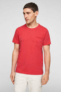 s.Oliver gemêleerd T-shirt rood, Rood