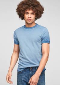 Q/S designed by dip-dye T-shirt blauw, Blauw