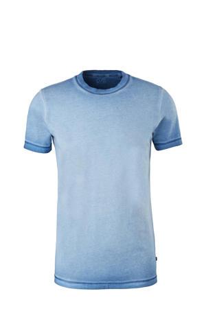 dip-dye T-shirt blauw