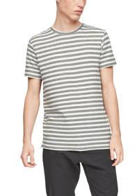 Q/S designed by gestreept T-shirt wit/grijs, Wit/grijs